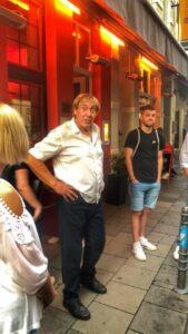 """Wir hatten viel Spaß mit Dampfplauderer und Zeitzeuge """"Anton Claaßen"""", in Köln besser bekannt als """"Der lange Tünn""""! Foto: HVR"""